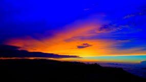 Sonnenaufganglandschaft über der Adams-Spitze alias Sri-Pada Sri Lanka Stockbilder
