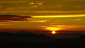Sonnenaufganglandschaft über der Adams-Spitze alias Sri-Pada Sri Lanka Lizenzfreies Stockfoto