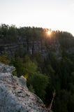 Sonnenaufganglichter stockfotos