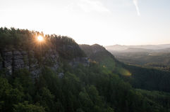 Sonnenaufganglichter Stockbilder