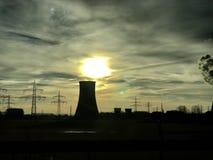 Sonnenaufgangmaschinenhaus Stockfotos