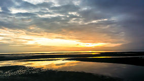 Sonnenaufgangmeer des frühen Morgens Lizenzfreies Stockfoto