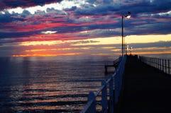 Sonnenaufgangpier atTumby Bucht Lizenzfreies Stockbild