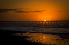 Sonnenaufgangpier Myrtle Beach stockbild