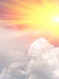 Sonnenaufgangsonne-Himmelwolken Lizenzfreie Stockfotos
