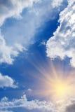 Sonnenaufgangsonne-Himmelwolken Lizenzfreies Stockbild