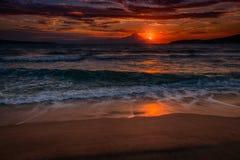 Sonnenaufgangstrand Lizenzfreie Stockbilder