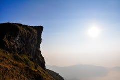 Sonnenaufgangszene an phu Chifa Stockbild