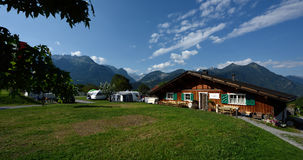 Sonnenberg que acampa, Vorarlberg, Áustria Foto de Stock Royalty Free