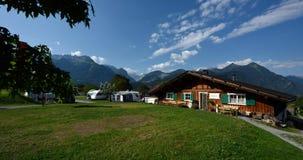 Sonnenberg que acampa, Vorarlberg, Austria Foto de archivo libre de regalías
