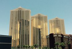 Sonnenbeschiene Gebäude Las Vegas Nevada Stockfotografie