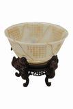 Sonnenblume-Form Jade Bowl Lizenzfreies Stockfoto