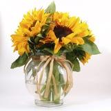 Sonnenblume im Vase Lizenzfreie Stockfotografie