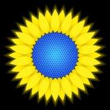 Sonnenblume - Solarbatterie Stockfotografie