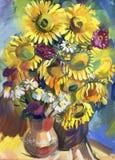 Sonnenblume. Stillleben Stockfoto