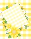 Sonnenblumeauslegung Lizenzfreie Stockfotos