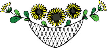 Sonnenblumeblumenauslegung Lizenzfreies Stockfoto