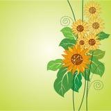 Sonnenblumedekoration Lizenzfreies Stockfoto