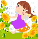 Sonnenblumefee lizenzfreie abbildung
