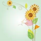 Sonnenblumemuster Lizenzfreies Stockbild