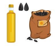 Sonnenblumenöl stock abbildung