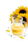Sonnenblumenöl Lizenzfreies Stockfoto