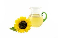 Sonnenblumenöl stockfoto