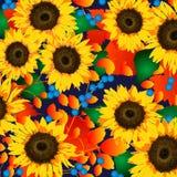 Sonnenblumen-Ernte lizenzfreie abbildung