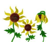Sonnenblumen-Malen Stockbild