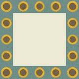 Sonnenblumen-quadratischer Rahmen Lizenzfreie Stockfotos