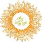 Sonnenblumenblumenblattrahmen Lizenzfreie Stockfotos