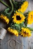 Sonnenblumenblumenstrauß Stockfoto