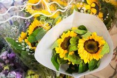 Sonnenblumenblumenstrauß Stockfotografie