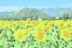 Sonnenblumenbuntglas Lizenzfreies Stockfoto