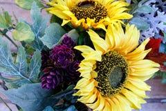 Sonnenblumenfeiertagskranz Lizenzfreie Stockfotos