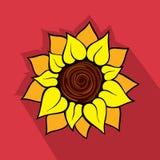 Sonnenblumenikone Stockfotos
