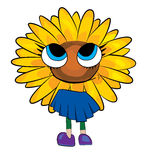 Sonnenblumenkarikatur Lizenzfreie Stockfotografie