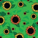 Sonnenblumenmuster - Zusammenfassung Lizenzfreie Stockfotos