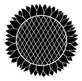 Sonnenblumenschattenbild Lizenzfreie Stockfotografie