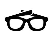 Sonnenbrille lokalisiertes Ikonendesign Lizenzfreie Stockbilder