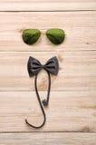 Sonnenbrille mit Fliege Lizenzfreie Stockbilder