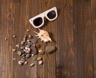 Sonnenbrille mit Oberteilen Stockbild