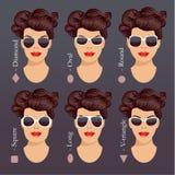 Sonnenbrilleformen 1 Stockfoto