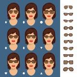 Sonnenbrilleformen 7 Stockfotos