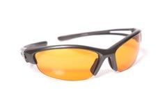 Sonnenbrillen auf weißem Hintergrund Stockfoto