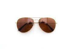 Sonnenbrillen auf weißem Hintergrund Lizenzfreies Stockfoto