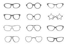 Sonnenbrillen eingestellt Stockbild