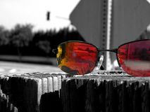 Sonnenbrillen für Reflexion Stockfotos
