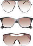 Sonnenbrillen stellten für Männer ein. Stockbilder