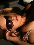 Sonnenbrillen u. Lippenstift Lizenzfreie Stockbilder